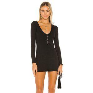 Privacy Please Emma Mini Dress in Black